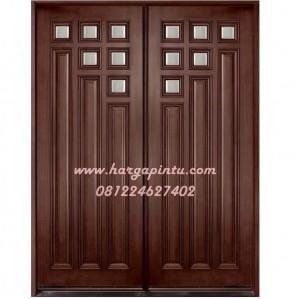 Daun Pintu Rumah Utama Doubel Kayu Jati