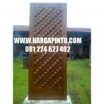 Model Daun Pintu Terbaru Motif Tikar HP-19