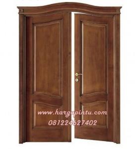 Pintu Kupu Tarung Kayu Jati Model Lengkung