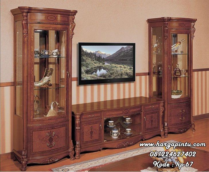 Jual Set Meja Bufet Tv Model Klasik Modern HP-67