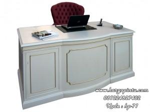 Meja Biro Klasik Warna Putih Duco