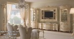 Meja Tv Set Klasik Ukir Mewah Model Pintu Lengkung
