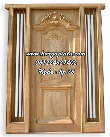 Pintu Kayu Jati Ukir Yunani Klasik