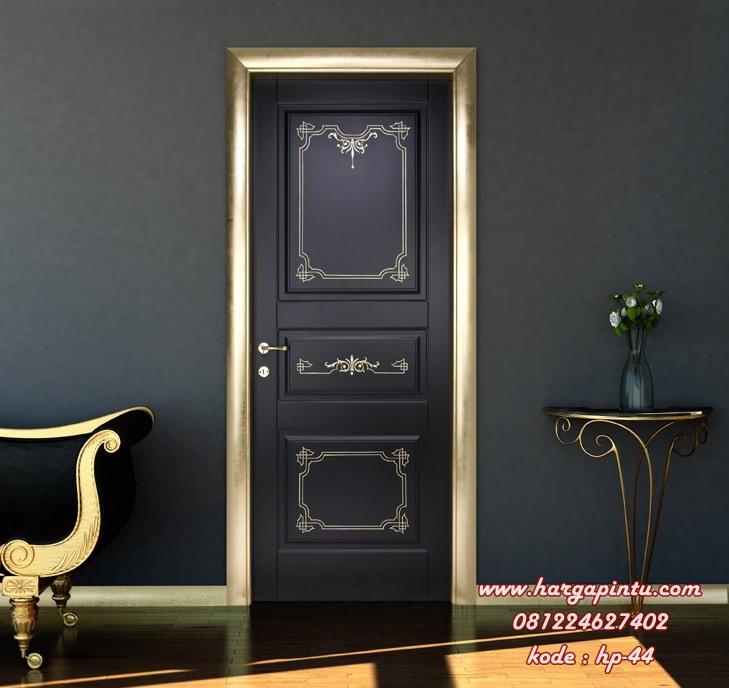 Pintu Rumah Elegan Gold Black Duco HP-44