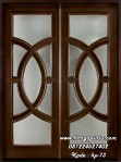 Pintu Utama Mahogany Solid Wood Walnut