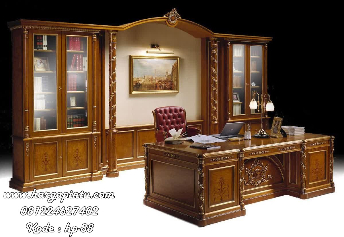 Set Meja Kantor Direktur Mewah Orival