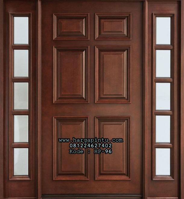 Model Pintu Single 3 Panel Jendela Sambung HP-97