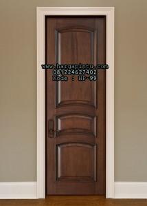 Pintu Kamar Model Panel Lengkung Terbaru