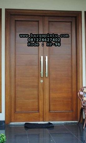 Pintu Rumah Minimalis Kusen Lis Profil Jati Jepara