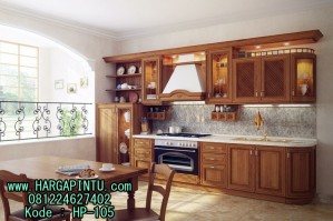 Kitchen Set Kayu Jati Jepara Murah