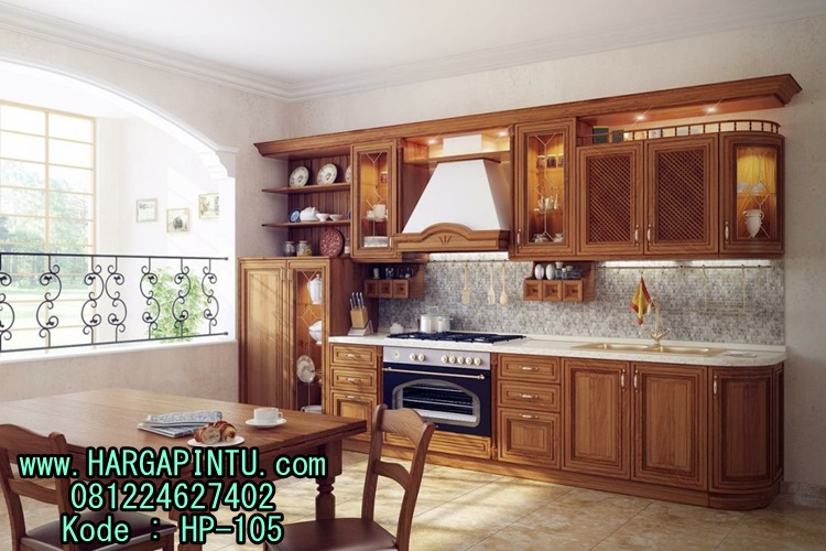 Kitchen set kayu jati kitchen set murah model minimalis for Katalog kitchen set