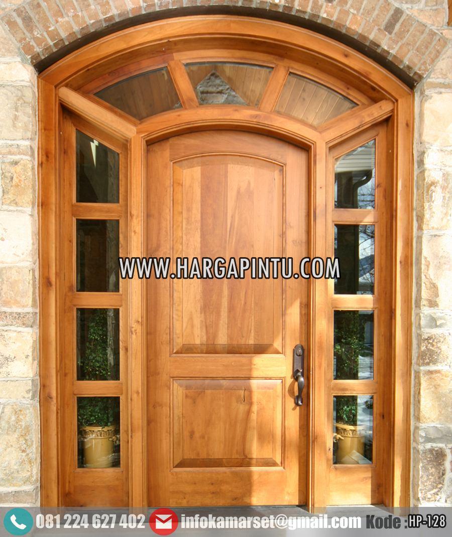 pintu depan model lengkung sambung harga pintu   harga pintu