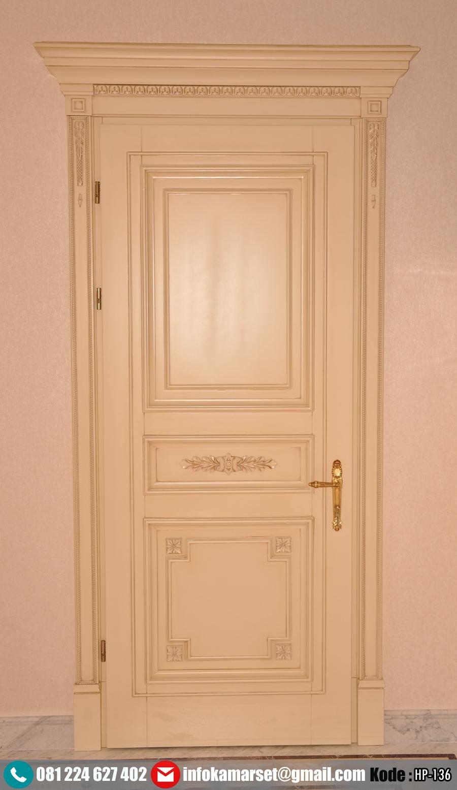 Pintu Kamar Klasik Mewah Warna Ivory HP-136