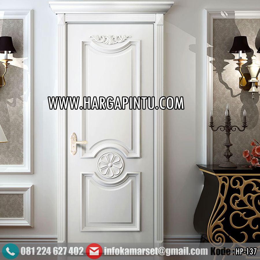 Pintu Kamar Mewah Ukir Klasik Putih HP-137