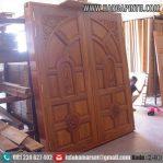 Pintu Kupu Tarung Ukir  Kayu Jati HP-130