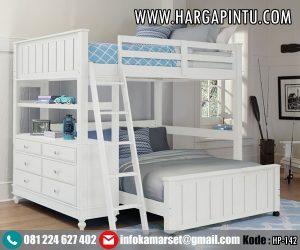 Tempat Tidur Tingkat Loft Bed Putih Duco