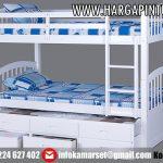 Tempat Tidur Tingkat Laci Sorong