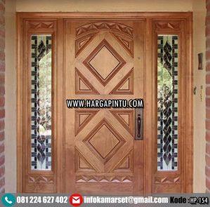 Pintu Depan Rumah Kayu Jati