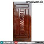 Pintu Rumah Kayu Jati Motif Bambu HP-149