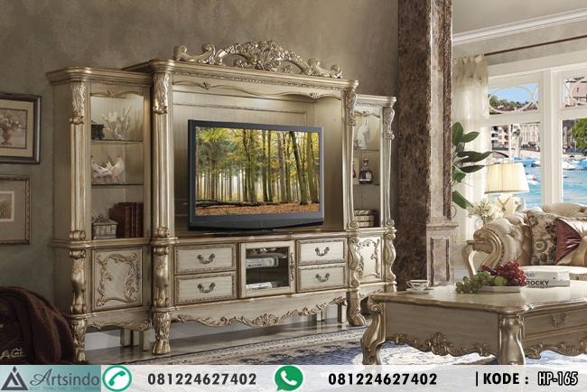 Lemari Hias Mewah Klasik TV Stand