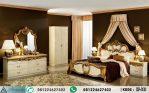 Tempat Tidur Mewah Klasik Gold Marmer HP-182