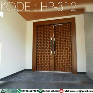 Pintu Kupu Tarung Anyaman Bambu HP-312
