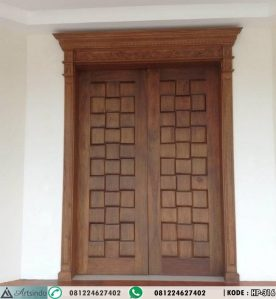 Pintu Klasik Ukir Kayu Jati Mediteranian HP-316