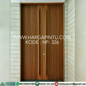 Pintu Minimalis Motif Salur Kupu Tarung HP-326