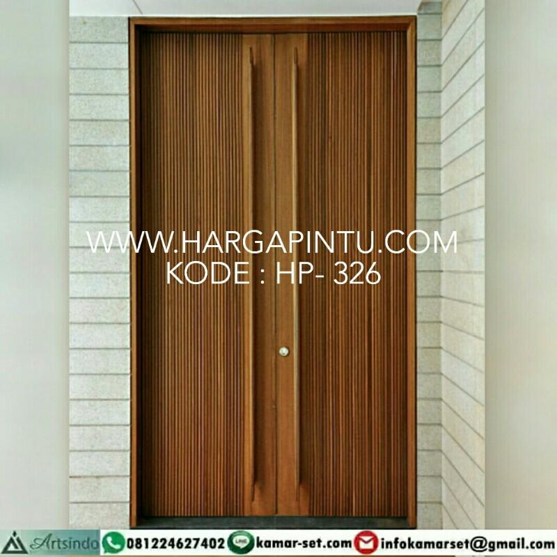 Pintu Minimalis Motif Salur Kupu Tarung HP-326, Model Pintu Utama Elegan
