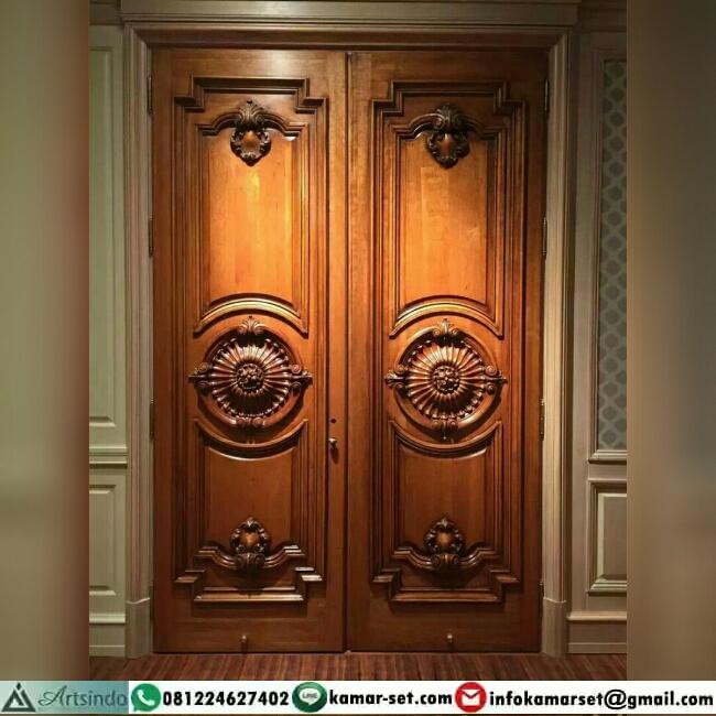 Gambar Pintu Utama Ukir Klasik Eropa HP-333 Desain Terbaru