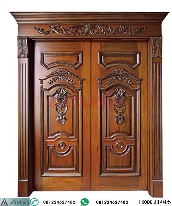 Model Pintu Utama Rumah Mewah Klasik Ukir