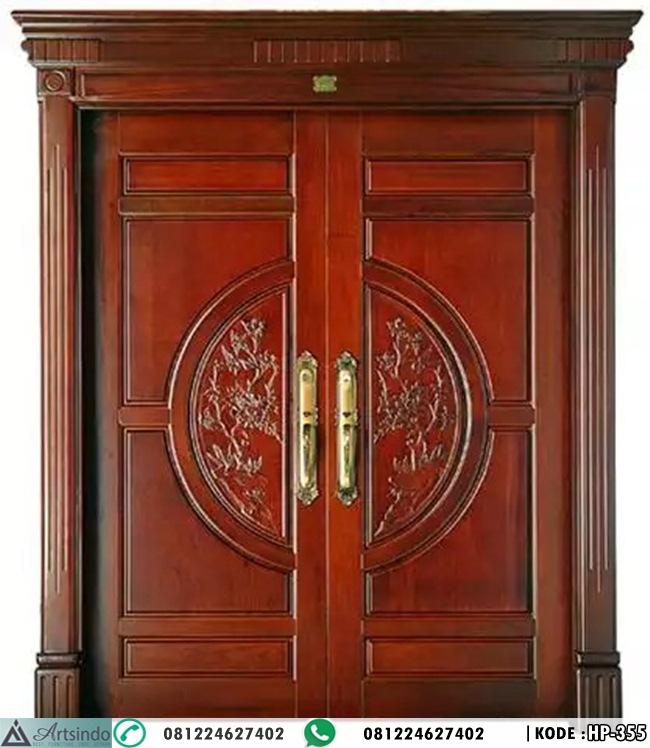Pintu Buka 2 Ukir Klasik Mewah HP-355