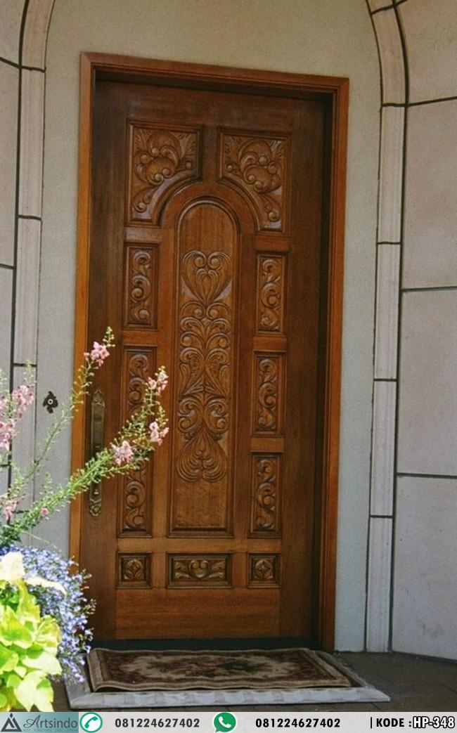 Pintu Ukir Jepara Single Kayu Jati HP-348