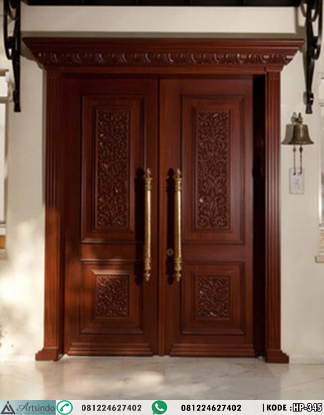 Pintu Utama Ukiran Klasik Mewah HP-345