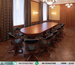 Set Meja Meeting Oval Mewah HP-339
