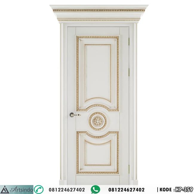 Model Pintu Kamar Gold Putih HP-359