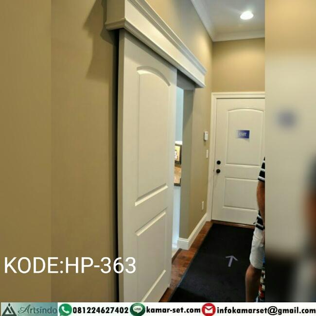 Pintu Sliding Klasik Putih HP-363