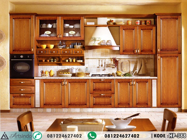 Kitchen Set Kabinet Jati Model Minimalis Terbaru