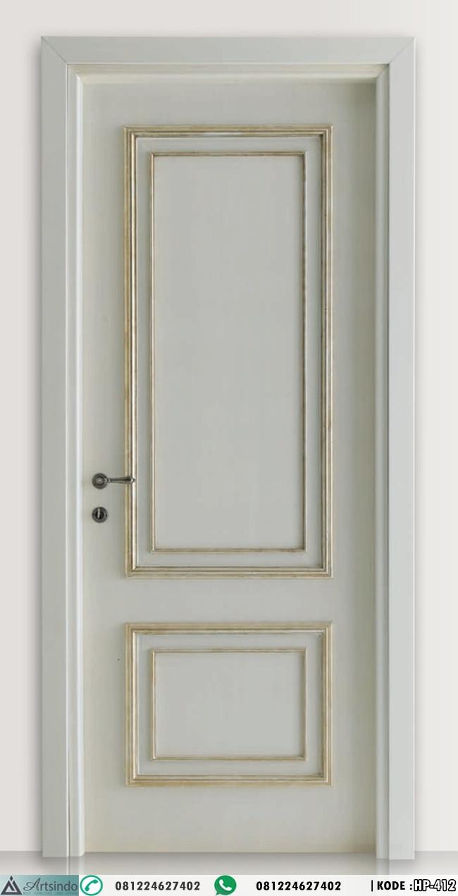 Pintu Kamar Minimalis Elegan Lis Gold HP-412