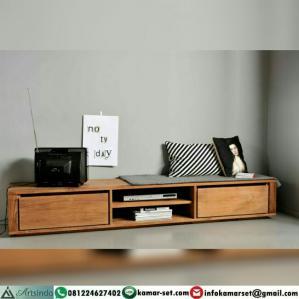 Bufet Tv Pendek  Minimalis Kayu Jati