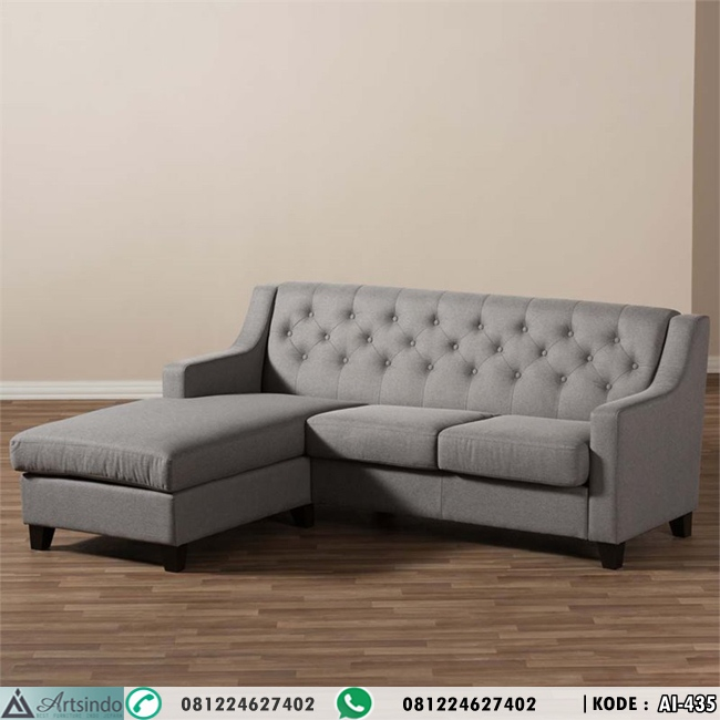 Kursi Tamu Sofa Sudut Grey HP-435