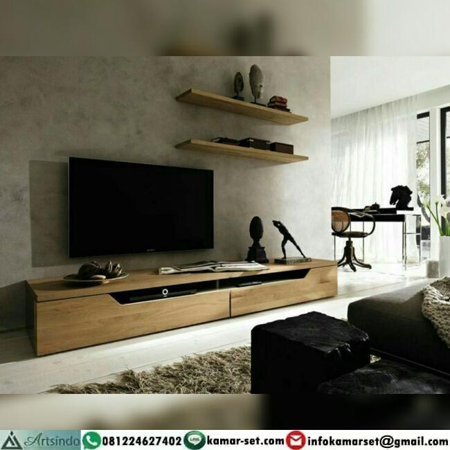 Meja Tv Stand Minimalis Kayu Jati