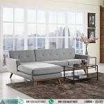 Model Kursi Tamu Retro Sofa Sudut HP-437