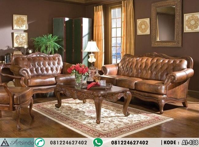 Satu Set Sofa Kursi Tamu Elegan Sultan Furniture HP-438