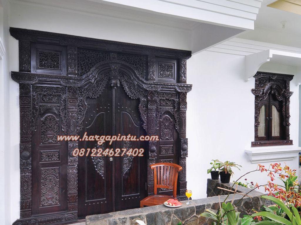 Desain Pintu Rumah Modern Model Gebyok Jawa