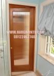 Pintu Kamar Mandi Kayu Jati Kaca Buram
