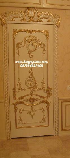 Pintu Kamar Ukiran Mewah Gold Duco HP-30