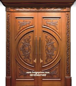 Pintu Kupu Tarung Ukir Mewah Kayu Jati HP-28