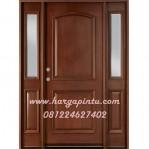 Pintu Rumah Minimalis Terbaru 2 Panel Jendela Kaca