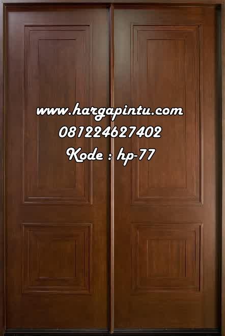 Daun Pintu Utama Doubel Minimalis Kupu Tarung Harga Pintu Harga Pintu